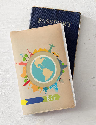 Personalise Passport Holders at Zazzle