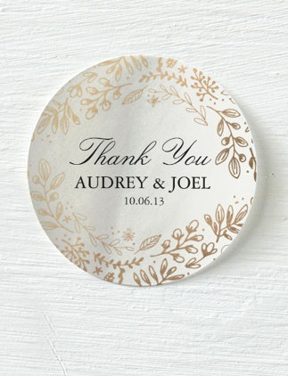 Floral Wedding Stickers