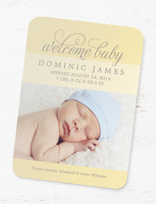 Magnetic Birth Announcements