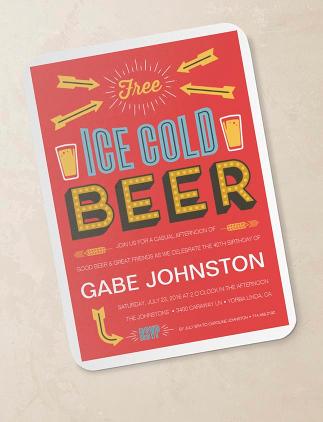 Beer Birthday Invitations