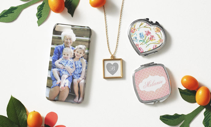 Browse through our beautiful selection of Mother's Day gifts, such as these [descriptor] [product].Browse through our beautiful selection of Mother's Day gifts, such as these photo necklaces, cases and compact mirrors.