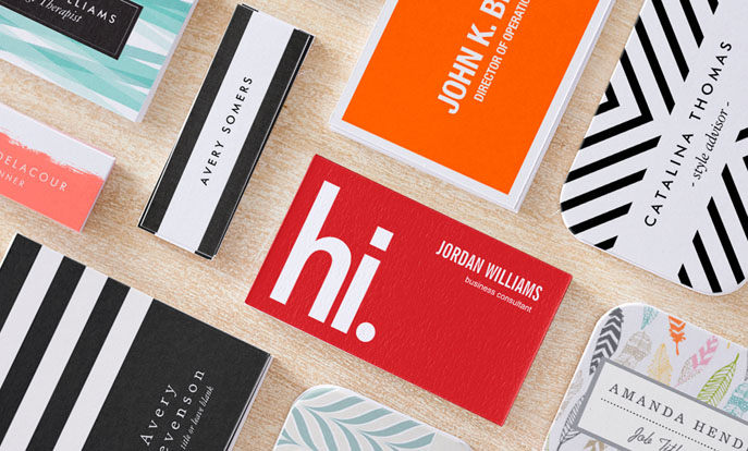 Browse the Custom Business Cards Collection and personalise by colour, design or style.
