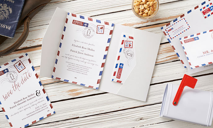 Personalised cards and invitations from Zazzle