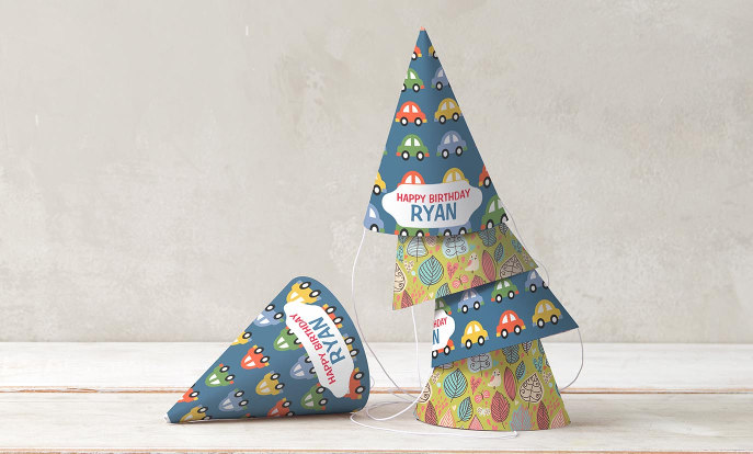 Customisable Paper Party Hats