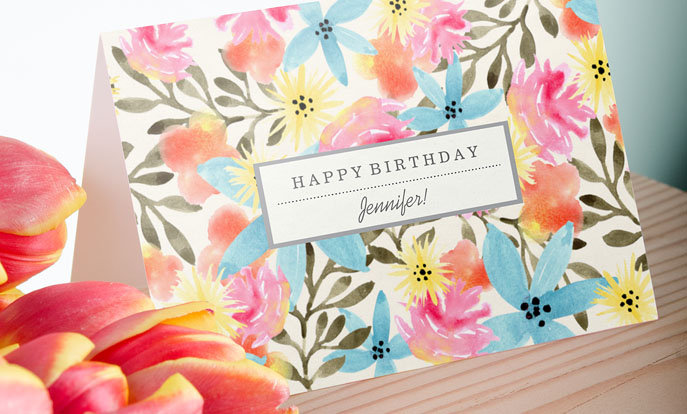 Create your very own Custom Birthday Cards and personalise by colour, design, or style.