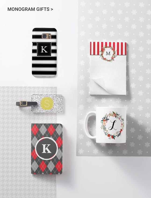 Monogram Christmas Gift Ideas From Zazzle