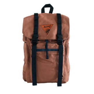 Brown Canvas Rucksack with Blue Liner