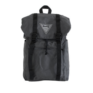 Grey Canvas Rucksack with Blue Liner