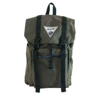 Hunter Green Canvas Rucksack with Blue Liner