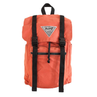 Terracotta Canvas Rucksack with Blue Liner