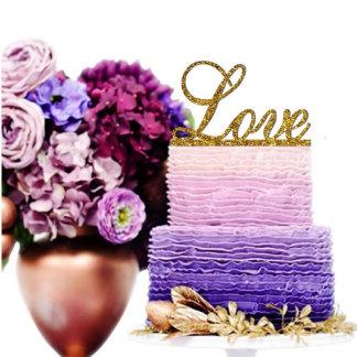 Sugar Yeti Made In USA Wedding Cake Topper Love