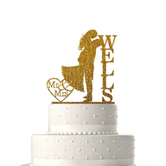 Personalized Cake Toppers for Wedding Decoration#7