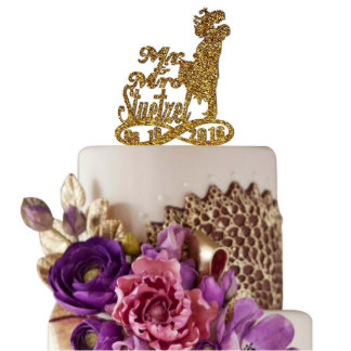 Personalized Wedding Cake Topper Mr&Mrs With Date6