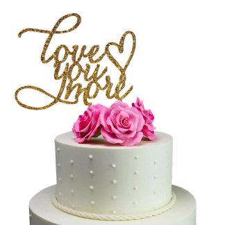 Sugar Yeti  Wedding Cake Topper Love You More