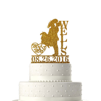 Personalized Wedding Cake Topper Mr&Mrs With Date8