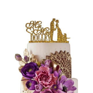 Topper Personalized Cake Toppers for Wedding Decor