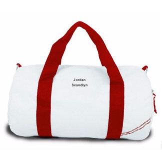 Newport Round Red Strap Medium Duffel Bag