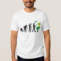 evolution of man paintball player tee shirts