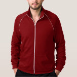 """<p>This best-selling California Fleece track jacket by American Apparel is extra thick for added warmth, yet it's breathable. Stay comfortable while walking, jogging or hanging out outside with this jacket made of 100% extra soft ringspun combed cotton. Customise to make it your own!</p> <p>Size & Fit<p> <ul> <li>Model is 6'2""""/188 cm and wearing a Medium</li> <li>Slim fit</li> <li>Garment is unisex</li> </ul> <p>Fabric & Care</p> <ul> <li>100% California Fleece cotton construction</li> <li>Raglan sleeves and a kangaroo pocket</li> <li>Contrast white piping and nylon zip (zips to top of collar)</li> <li>Made in and shipped from the USA</li> <li>Machine wash cold</li> </ul>"""