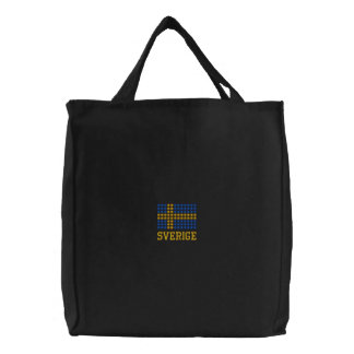 Svenska flaggan varukorg  - Swedish Flag Tote Bag