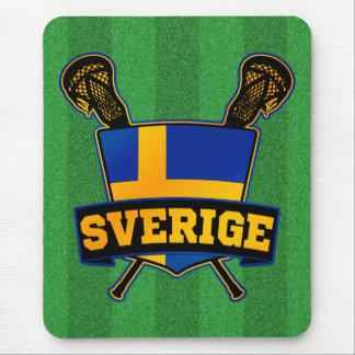 Svenska Sweden Lacrosse Mouse Pad