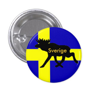 Sverige button with moose