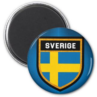Sverige Flag 6 Cm Round Magnet