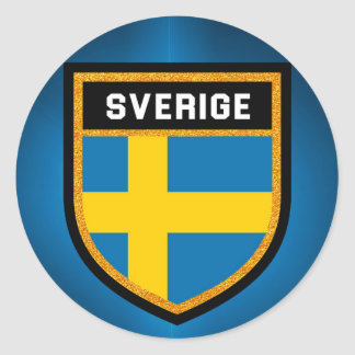 Sverige Flag Round Sticker