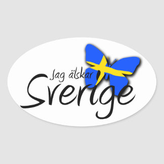 Sverige Oval Sticker