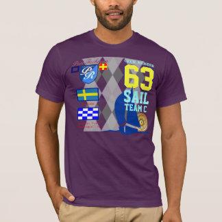 Sverige Sail Team C Port Richman Marine Argyle T-Shirt