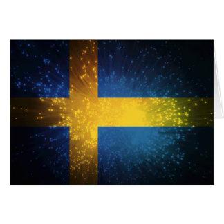 Sverige; Sweden Flag Card