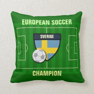 Sverige Sweden Soccer Champion Cushion