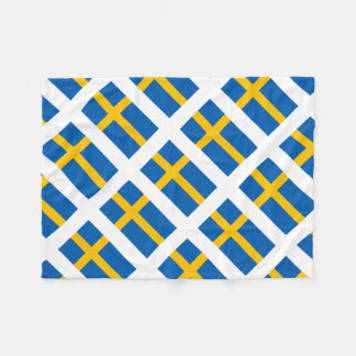 Sverige Sweden Swedish Flag Fleece Blanket