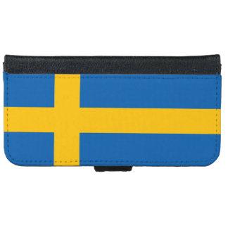 Sverige Sweden Swedish Flag iPhone 6 Wallet Case
