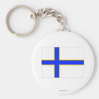 Sverigefinska flag key ring