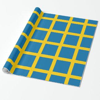 Sveriges Flagga - Flag of Sweden - Swedish Flag Wrapping Paper