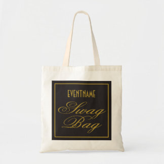 Swag Bag Elegant Black and Gold