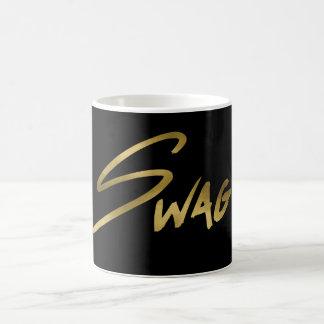 Swag Black & Gold Typography Coffee Mug