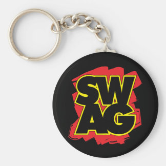 SWAG - Black & Red Key Ring