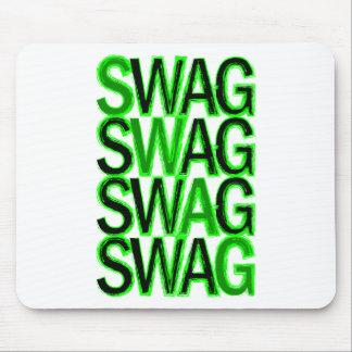 Swag - Green Mousepad