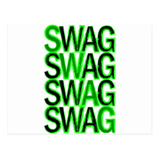 Swag - Green Postcard