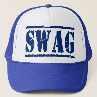 SWAG Mesh Snapback Trucker Hat (blue)