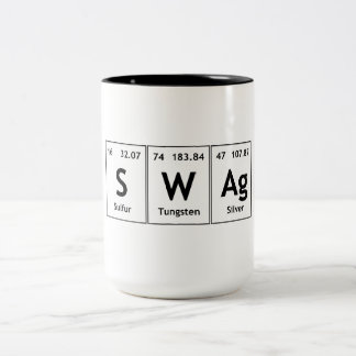 SWAg Periodic Table Element Word Chemistry Symbol Two-Tone Mug