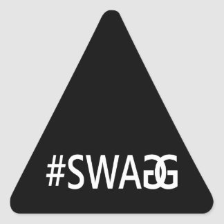 #SWAG / SWAGG Funny, Trendy, Cool Internet Quote Triangle Sticker