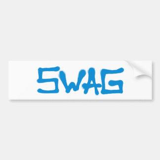 Swag Tag - Blue Bumper Sticker