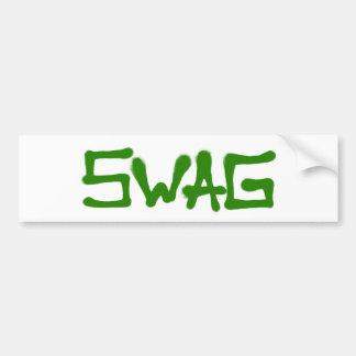Swag Tag - Green Bumper Sticker
