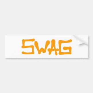 Swag Tag - Orange Bumper Sticker