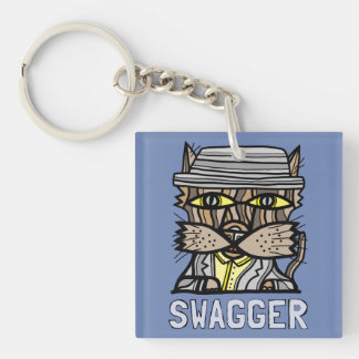 """""""Swagger"""" Square (double-sided) Keychain"""