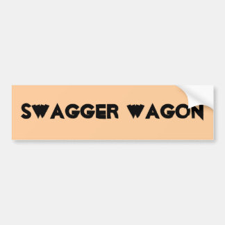 SWAGGER WAGON BUMPER STICKER