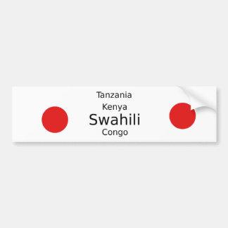 Swahili Language (Kenya, Tanzania, And The Congo) Bumper Sticker